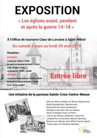 EXPOSITION 'LES EGLISES AVANT, PENDANT ET APRES LA GUERRE 14-18'